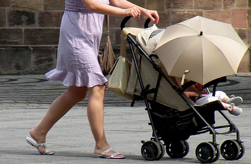 carrito bebé pediatría