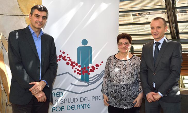 Dr. Antoni Bayés Genís, Carmen Aleix y Dr. José Ramón González Juanatey