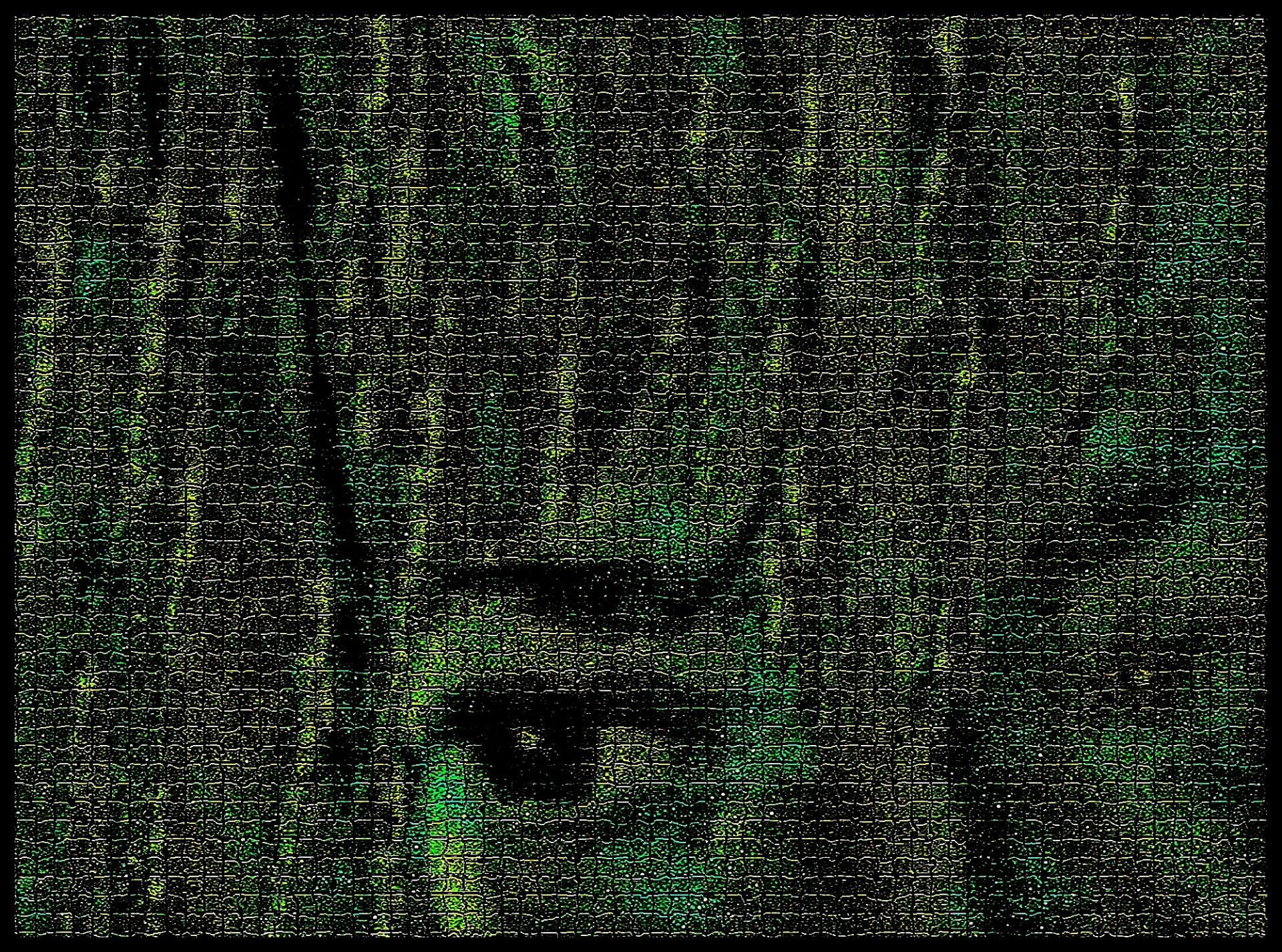 ojo en fondo verde