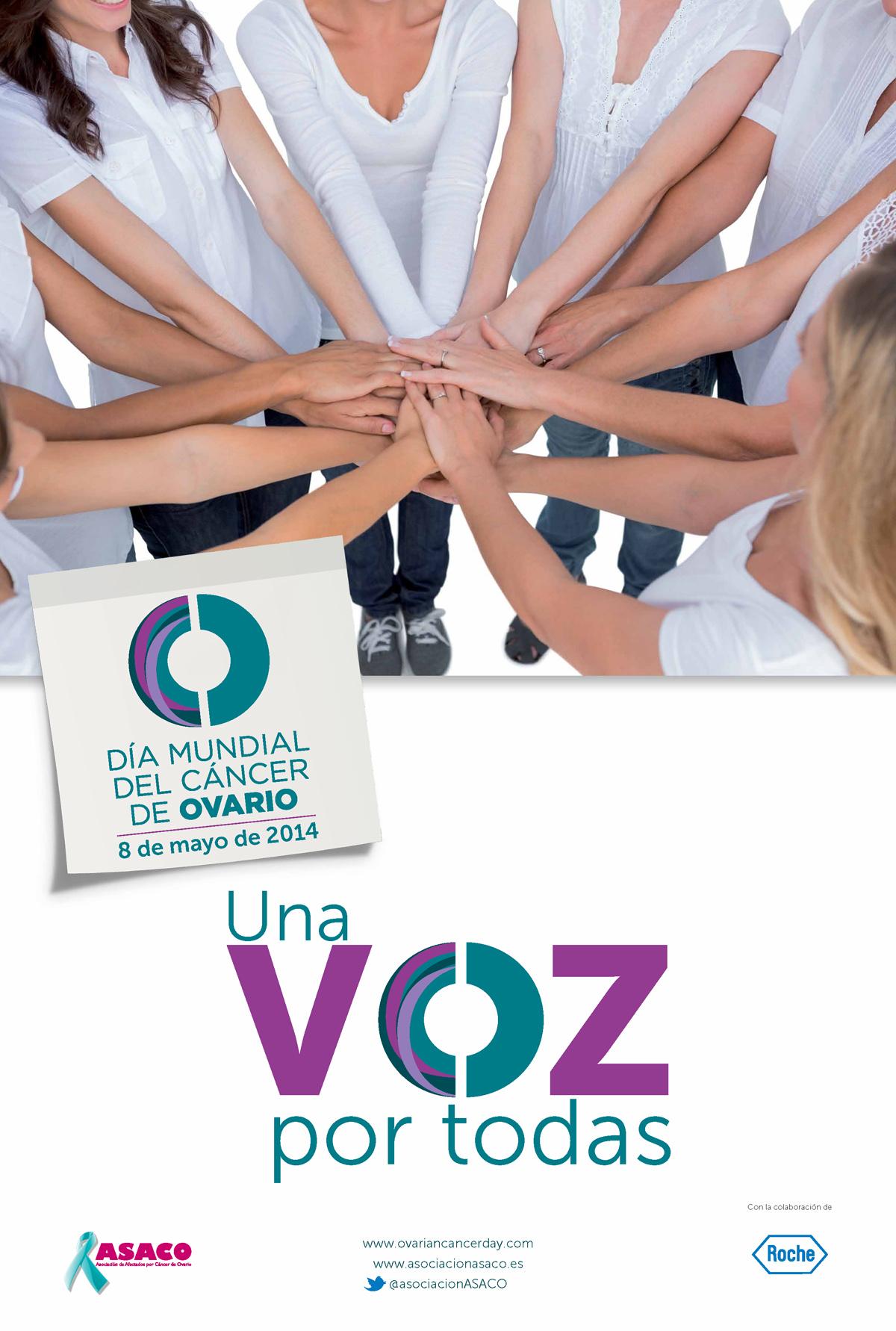 cartel dia mundial cáncer de ovario