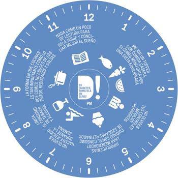 Reloj de la Diabetes nocturno Fuente: SED, redGDPS, SEMI, FEDE / Hill+Knowlton Strategies