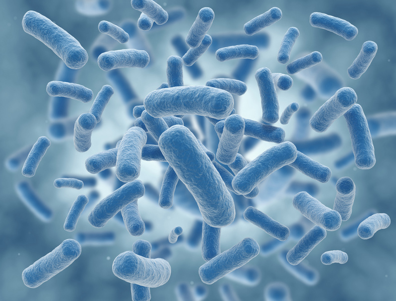 Blue virus cells science illustration