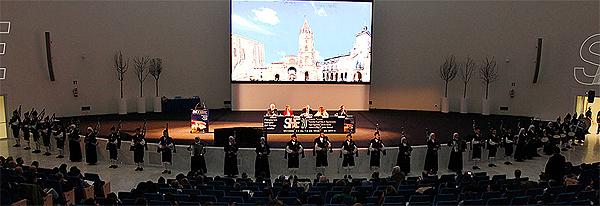 Un momento de la inauguración de la XX Reunión de SEH-LELHA Fuente: Servimedia