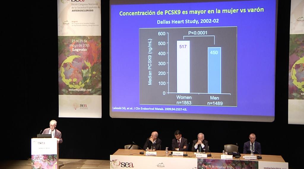 """3ra diapositiva de la ponencia (""""Nueva diana terapéutica en el tratamiento de las dislipemias: PCSK9"""") del Dr. Jesús Millán"""