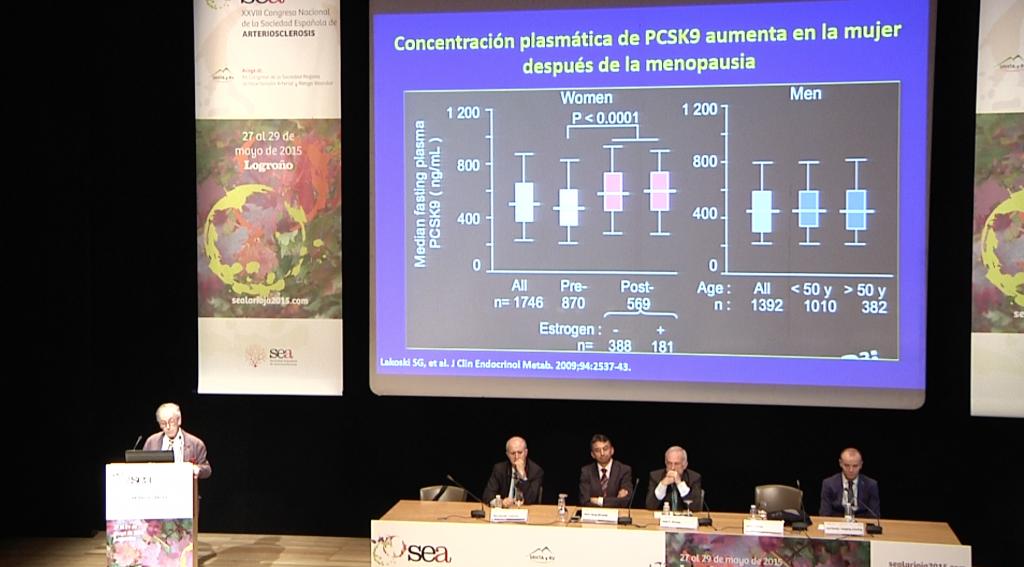 """4ta diapositiva de la ponencia (""""Nueva diana terapéutica en el tratamiento de las dislipemias: PCSK9"""") del Dr. Jesús Millán"""