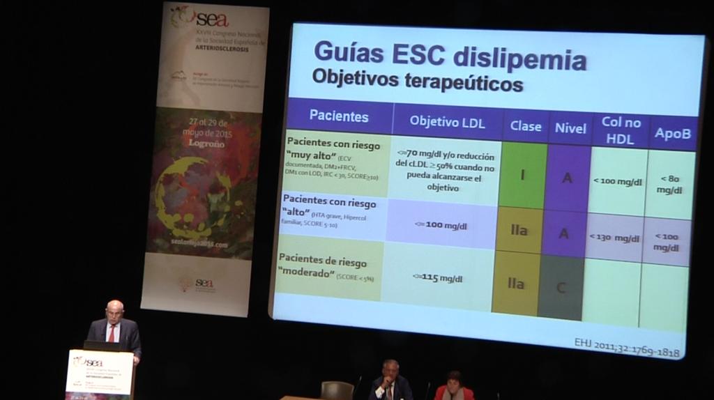 """2da diapositiva de la ponencia (""""Los esteroles vegetales en la práctica clínica"""") del Dr. Vicente Pascual"""