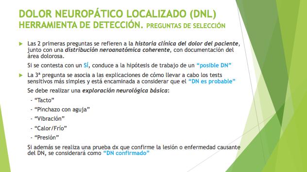 DOLOR NEUROPÁTICO LOCALIZADO (DNL)v - Farmacosalud