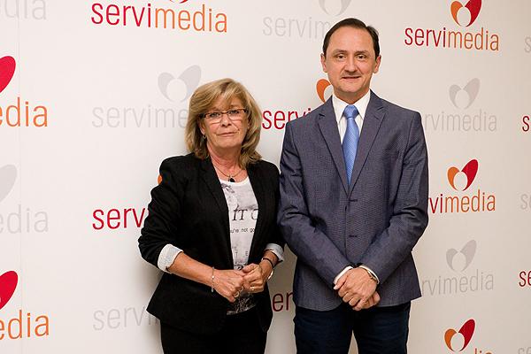 La presidenta de Asociación Española de Enfermería de Hipertensión y Riesgo Cardiovascular (EHRICA), Lucía Guerrero, y el doctor Julián Segura Fuente: Servimedia