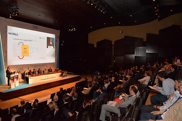 Un momento de la sesión 'Nuevas Perspectivas en Cirugía de Cristalino' Fuente: Novartis