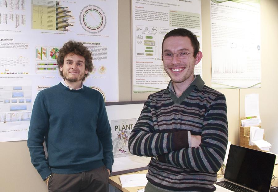 Walter Severino y Riccardo Aiese, cofundadores de Sequentia Fuente: Sequentia / Parc Científic de Barcelona