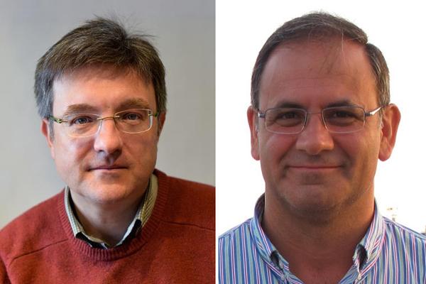 Los doctores José Antonio Pérez Molina (izquierda) y Esteban Martínez Chamorro, nuevos presidente y secretario de GeSIDA Fuente. GeSIDA /  euromediagrupo