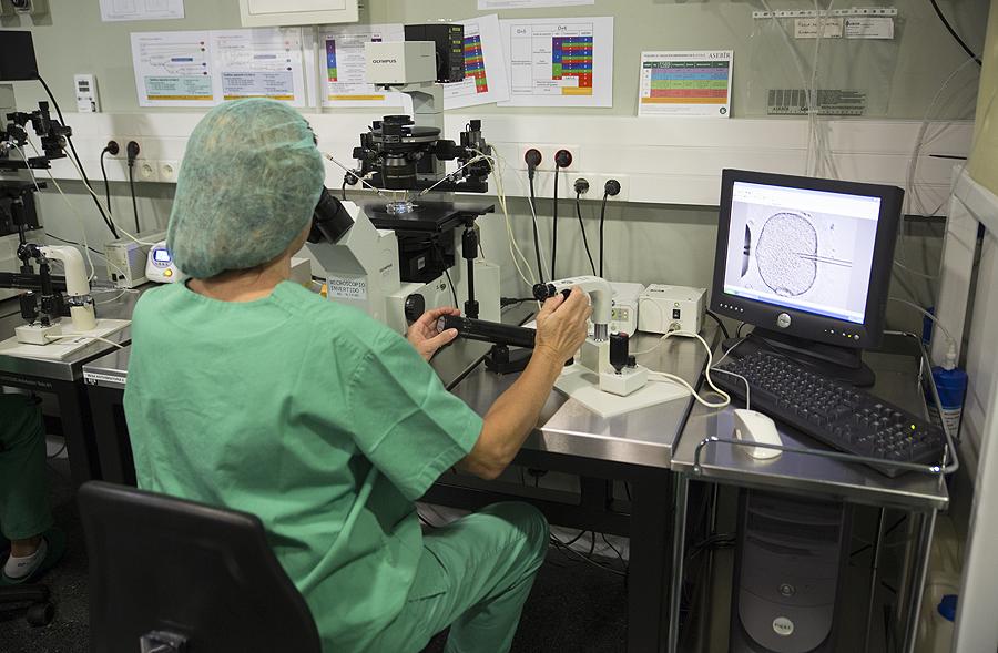 Trabajo en el laboratorio Fuente: Hospital Quirónsalud Barcelona-Grupo Quirónsalud