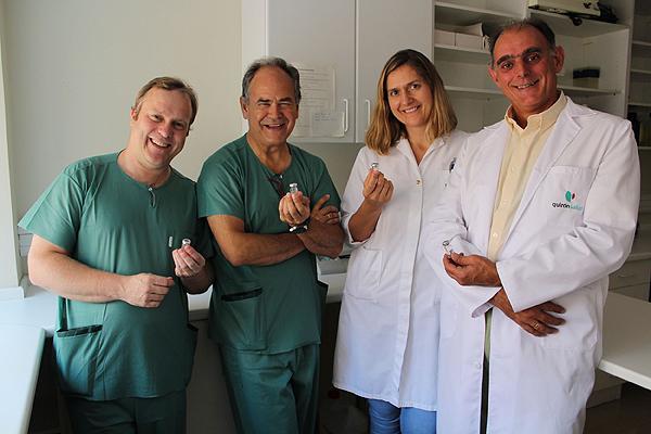 El equipo de investigación que ha trabajado con células madre como terapia para las fístulas de Crohn Fuente: Hospital Universitario Fundación Jiménez Díaz / Grupo Quironsalud