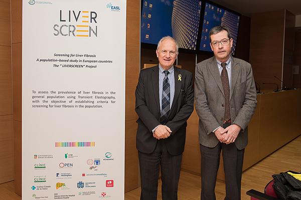 Doctores Pere Ginés (a la izq.) y Llorenç Caballeria Fuente: Hospital Clínic / IDIAP Jordi Gol / ICS Metropolitana Nord