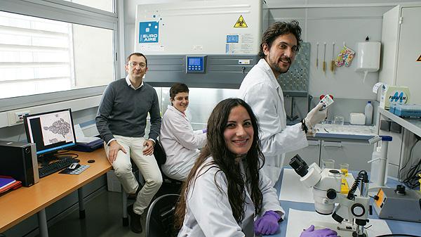 Algunos de los investigadores implicados en el estudio: a la izquierda, José Luis Quiles, y a la derecha, Alfonso Varela Fuente: URG