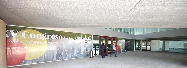 Vestíbulo exterior del Palacio de Congresos de Palma, sede del Congreso SED de 2018 Fuente: www.farmacosalud.com
