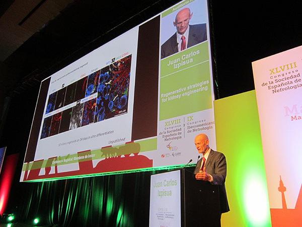 El Prof. Juan Carlos Izpisúa, durante el Congreso Fuente: Congreso S.E.N. / Euromedia Grupo