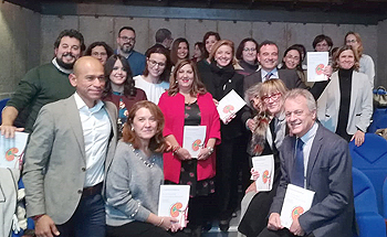 Foto de familia con los autores y expertos que han participado en la publicación de la nueva guía Fuente: S.E.N. / SECPAL / Euromedia Grupo