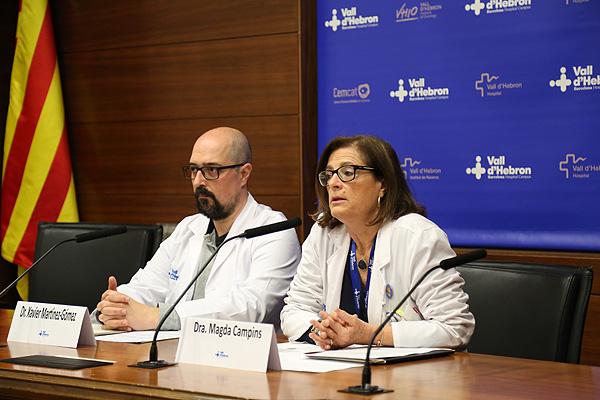 Drs. Xavier Martínez-Gómez y Magda Campins Fuente: Hospital Vall d'Hebron