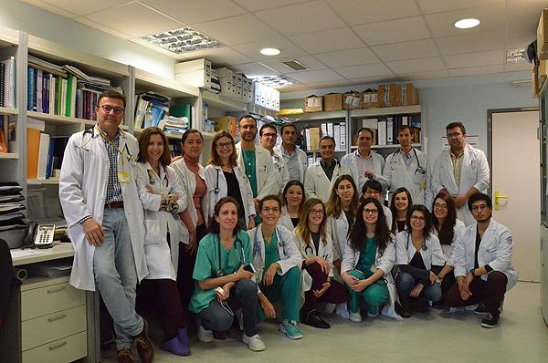 Grupo del CIBERES liderado por Juan Fernando Masa en el Hospital San Pedro de Alcántara, Cáceres Fuente: CIBERES / Centro de Investigación Biomédica en Red CIBER