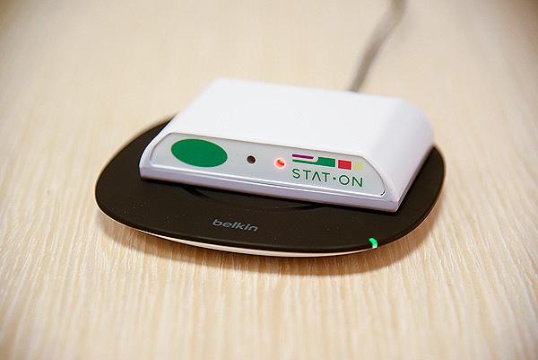 Dispositivo STAT-ON Fuente: Centro Médico Teknon-Quirónsalud / Sense4Care / UPC