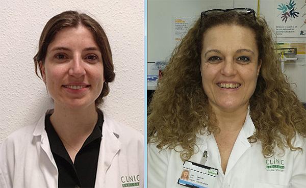 Marta Garcia Moliner (a la izq.) y Ana Carrión Aliaga Fuente: Hospital Clínic