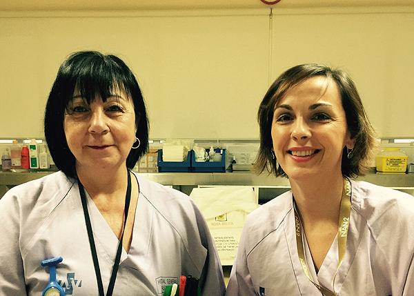 (de izq. a dcha): Antonia Valero Cardona y Ana Martínez Cano Fuente: A. Valero Cardona / ANECIPN