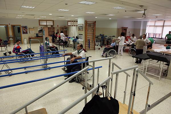 Sala de fisioterapia para pacientes aquejados de lesión medular Fuente: Hospital Universitario Virgen del Rocío