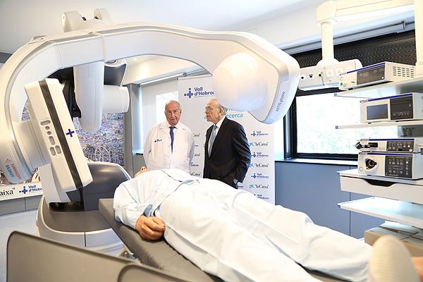 Otra perspectiva del robot radiológico Fuente: Hospital Vall d'Hebron / La Caixa