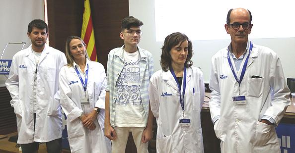 Personal médico y paciente Fuente: Hospital Universitario Vall d'Hebron