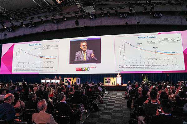 Un escenario de ESMO 2019, en Barcelona Fuente: ESMO