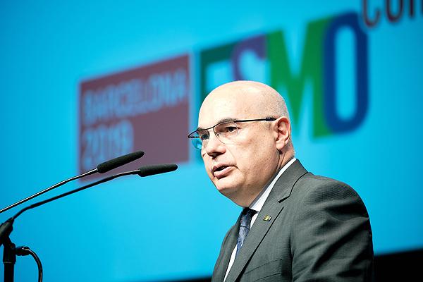 El Dr. Josep Tabernero Fotografía: cortesía de ESMO  Difusión: VHIO / Galènia Comunicació Mèdica