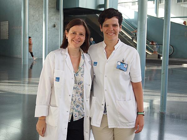 Dras. Lucía Márquez (a la izq. de la imagen) y Alicia López-García Fuente: Hospital del Mar