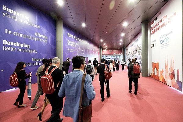 Un pasillo de ESMO 2019, en Barcelona Fuente: ESMO