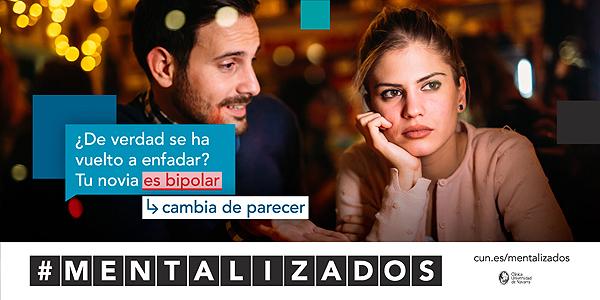 Imágenes de la campaña #Mentalizados iniciada por la Clínica Universidad de Navarra Fuente: Clínica Universidad de Navarra
