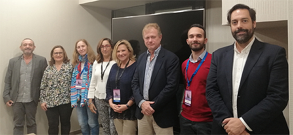 El Dr. Rafael Manuel Ortí Lucas (tercero por la derecha), con la nueva Junta Directiva de la Sociedad Española de Medicina Preventiva, Salud Pública e Higiene (SEMPSPH) Fuente: SEMPSPH