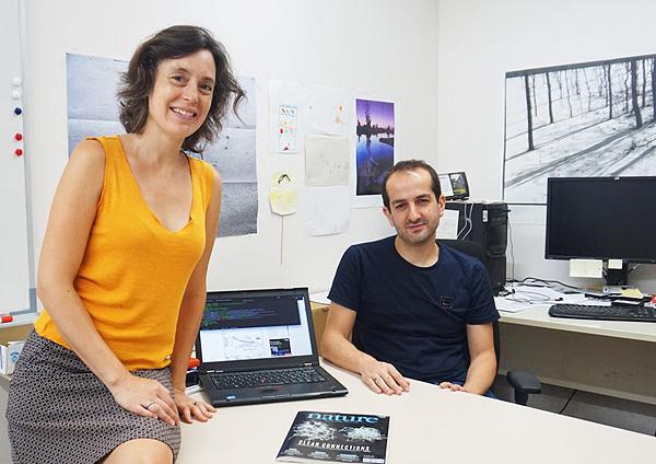 Los científicos Marta Sales y Roger Guimerà  Fuente: URV