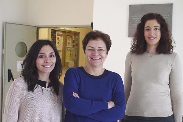 (de izq. a dcha): Sonia G. Gaspar, Mercedes Dosil y Blanca Nieto, participantes en el estudio Fuente: CIC / CIBERONC / Centro de Investigación Biomédica en Red (CIBER)