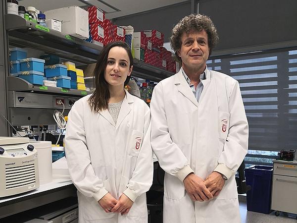 Los investigadores Alejandra Escudero-Lara y Rafael Maldonado Fuente: UPF