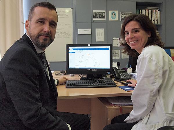Ismael Vallvé (Bismart) y la Dra. Laia Sans Fuente: Hospital del Mar