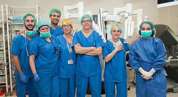 Miembros del equipo quirúrgico de Urología Fuente: Hospital Universitario de Bellvitge