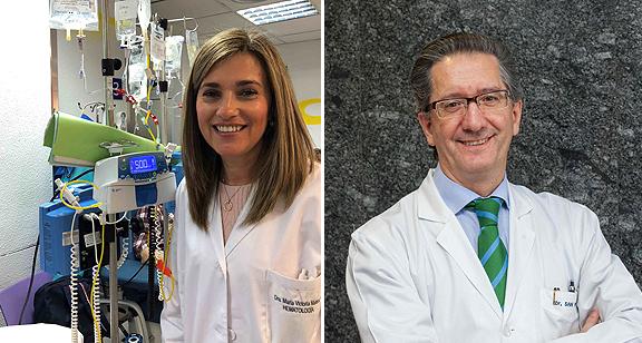 Drs. María Victoria Mateos y Jesús San Miguel Fuente: Clínica Universidad de Navarra / IBSAL