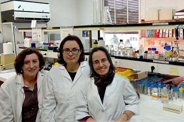 (de izq. a dcha): las investigadoras Elvira Álvarez, Verónica Hurtado-Carneiro y Carmen Sanz  Fuente: CIBERDEM / Centro de Investigación Biomédica en Red (CIBER)