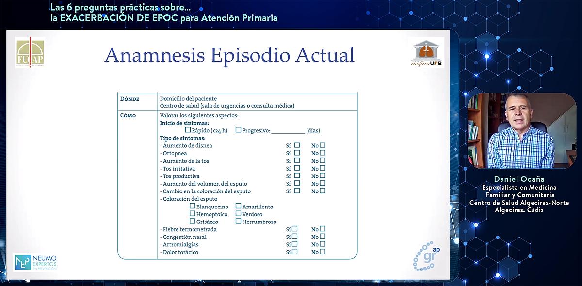 """""""La EPOC precisa, en su manejo y en su diagnóstico, de muy pocas pruebas rebuscadas"""""""